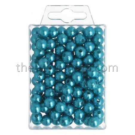 Perlen, 10mm, 115Stk., türkis