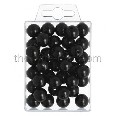 Perlen, 14mm, 35Stk., schwarz