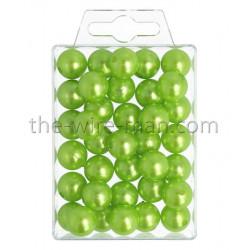 Perlen, 14mm, 35Stk., apfelgrün
