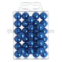 Perlen, 14mm, 35Stk., blau