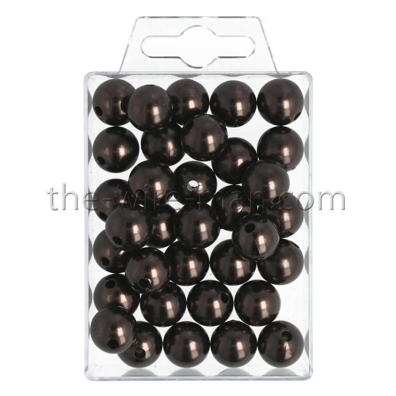 Perlen, 14mm, 35Stk., brandy