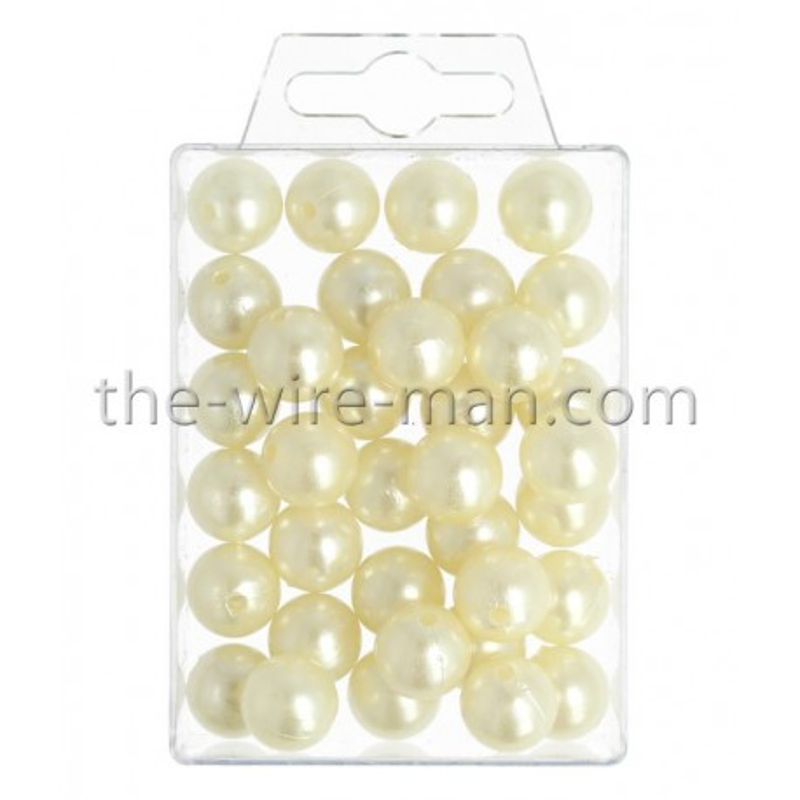 Perlen, 14mm, 35Stk., champagner