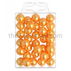 Perlen, 14mm, 35Stk., orange