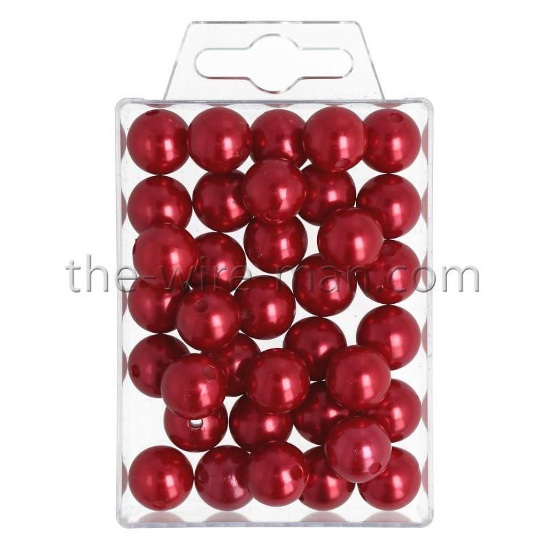 Perlen, 14mm, 35Stk., rot