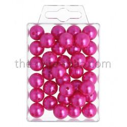 Perlen, 14mm, 35Stk., pink