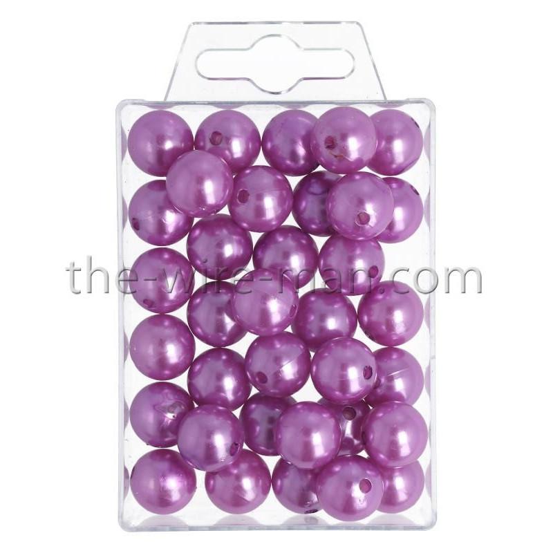 Perlen, 14mm, 35Stk., violett