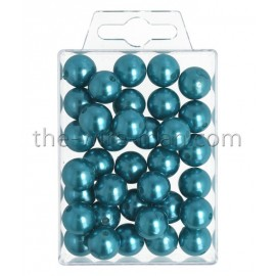 Perlen, 14mm, 35Stk., türkis