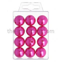 Perlen, 20mm, 12Stk., pink
