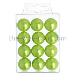 Perlen, 20mm, 12Stk., apfelgrün