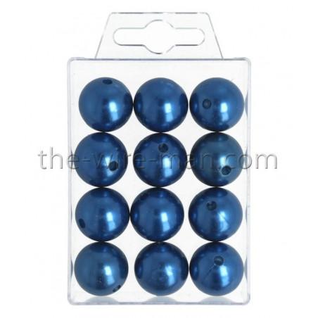 Perlen, 20mm, 12Stk., blau