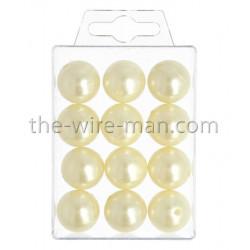 Perlen, 20mm, 12Stk., champagner