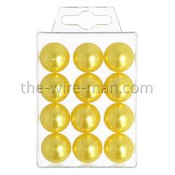 Perlen, 20mm, 12Stk., gelb