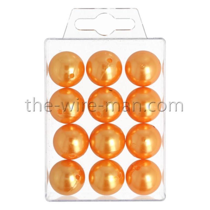 Perlen, 20mm, 12Stk., orange