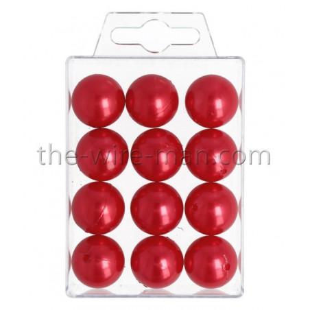Perlen, 20mm, 12Stk., rot