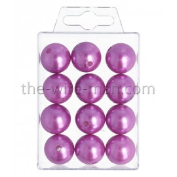 Perlen, 20mm, 12Stk., violett