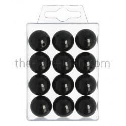 Perlen, 20mm, 12Stk., schwarz