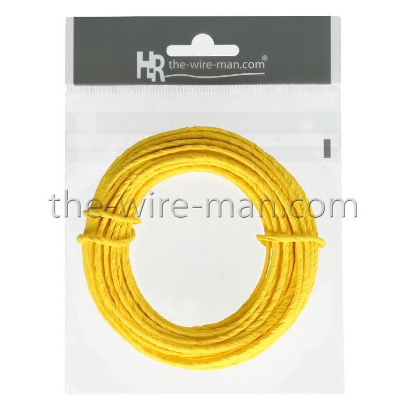 Papierdraht, 2mm/10m, gelb