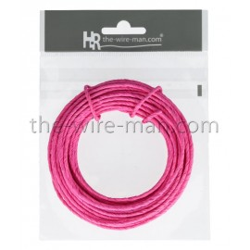 Papierdraht, 2mm/10m, pink