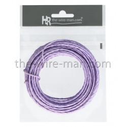 Papierdraht, 2mm/10m, lavendel