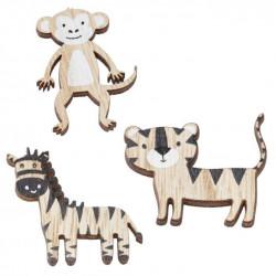 Holz-Sticker Afrika, ca.4-5cm, 6Stk.