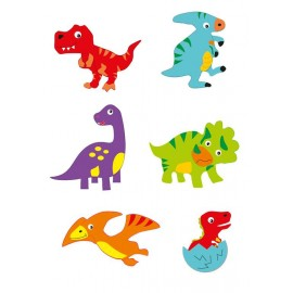 Moosgummi-Sticker, Dino, 12Stk.