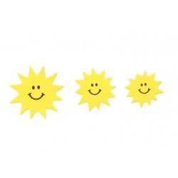 Moosgummi-Sticker, Sonne-Mond-Wolken, ca. 52Stk.