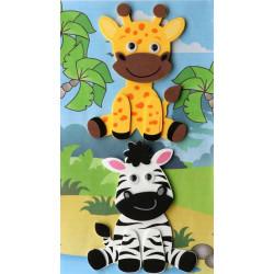 3D-Moosgummi, Zebra-Giraffe
