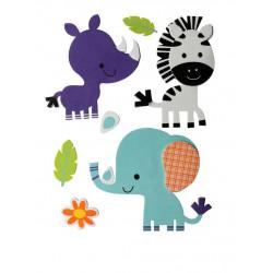 3D-Moosgummi, Zebra-Elafant-Nashorn