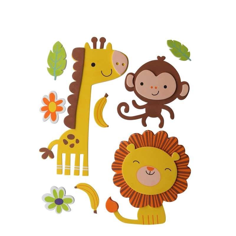 3D-Moosgummi, Giraffe-Affe-Löwe