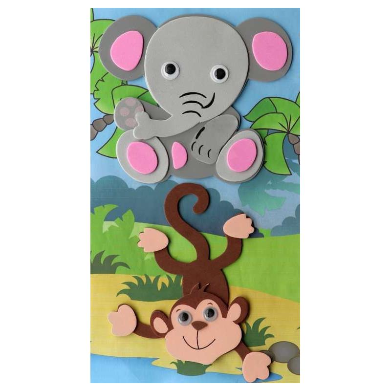 3D-Moosgummi, Elefant-Affe