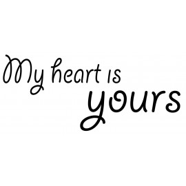 "Reliefeinlage ""my heart is yours"""