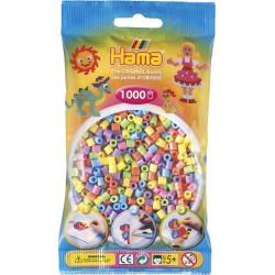Bügelperlen pastell-mix, 1000Stk.