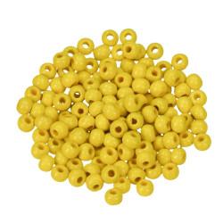 Holzkugel, 4mm, gelb