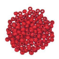 Holzkugel, 4mm, rot