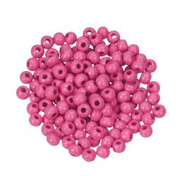 Holzperlen, 4mm, rosa