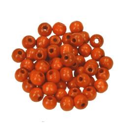 Holzperlen, 6mm, orange