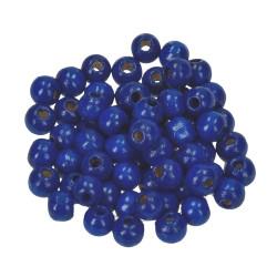 Holzkugel, 4mm, blau