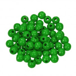 Holzperlen, 6mm, apfelgrün