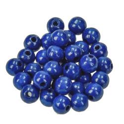 Holzkugel, 8mm, blau
