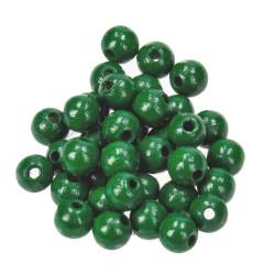 Holzkugel, 8mm, dunkelgrün