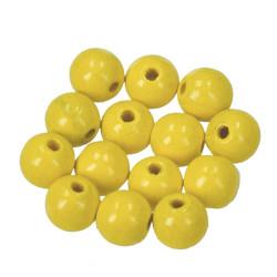 Holzkugel, 10mm, gelb