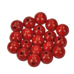 Holzkugel, 10mm, rot