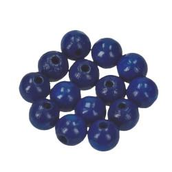 Holzkugel, 10mm, dunkelblau