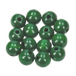 Holzkugel, 10mm, dunkelgrün