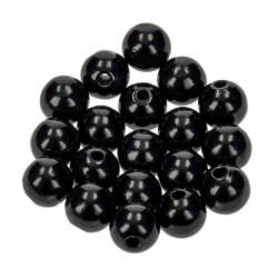 Holzkugel, 10mm, schwarz