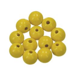 Holzkugel, 12mm, gelb