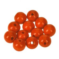 Holzkugel, 12mm, orange