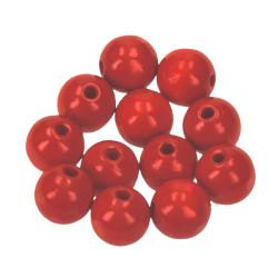 Holzkugel, 12mm, rot