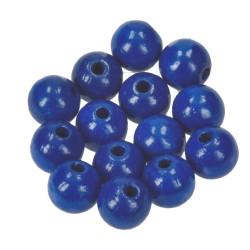 Holzkugel, 12mm, dunkelblau
