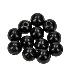 Holzkugel, 12mm, schwarz